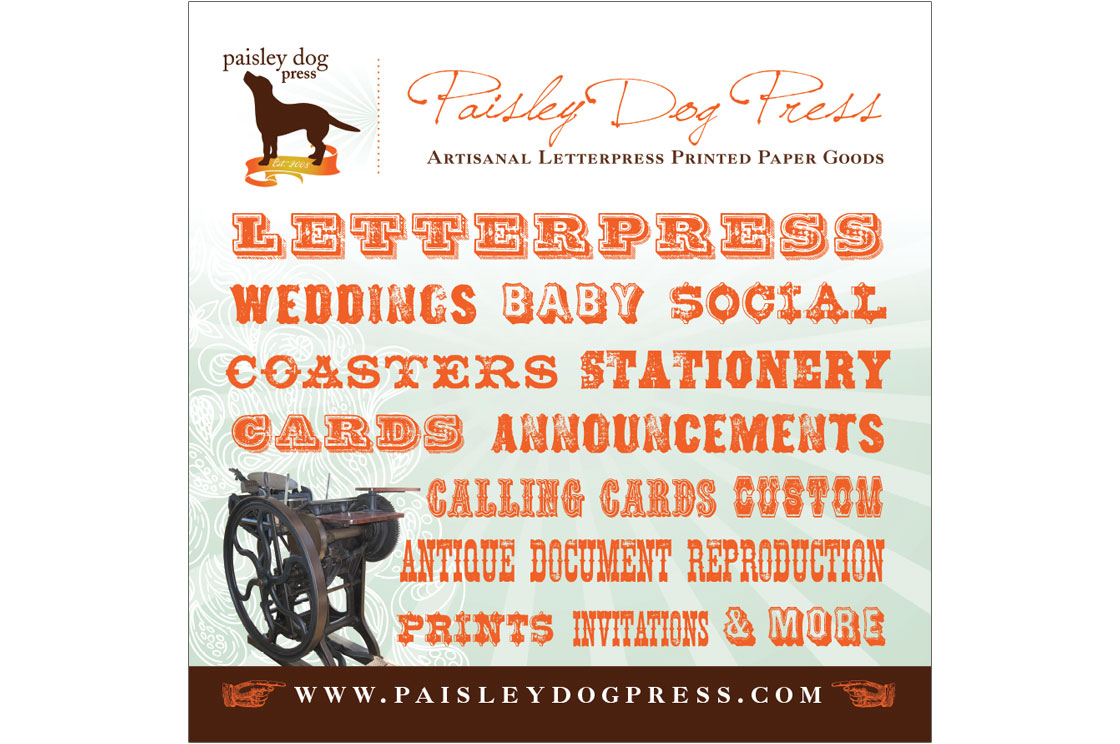 Paisley Dog Letterpress – Design Revolution